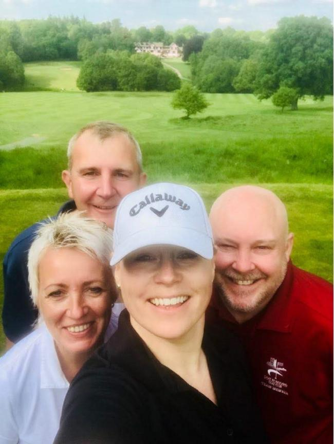One for the album - Stoke by Nayland GC's Ian Thompson, Del Pritchard, Bev Thompson and Jo Little who took part in the England Golf Team Championship Regional Qualifier