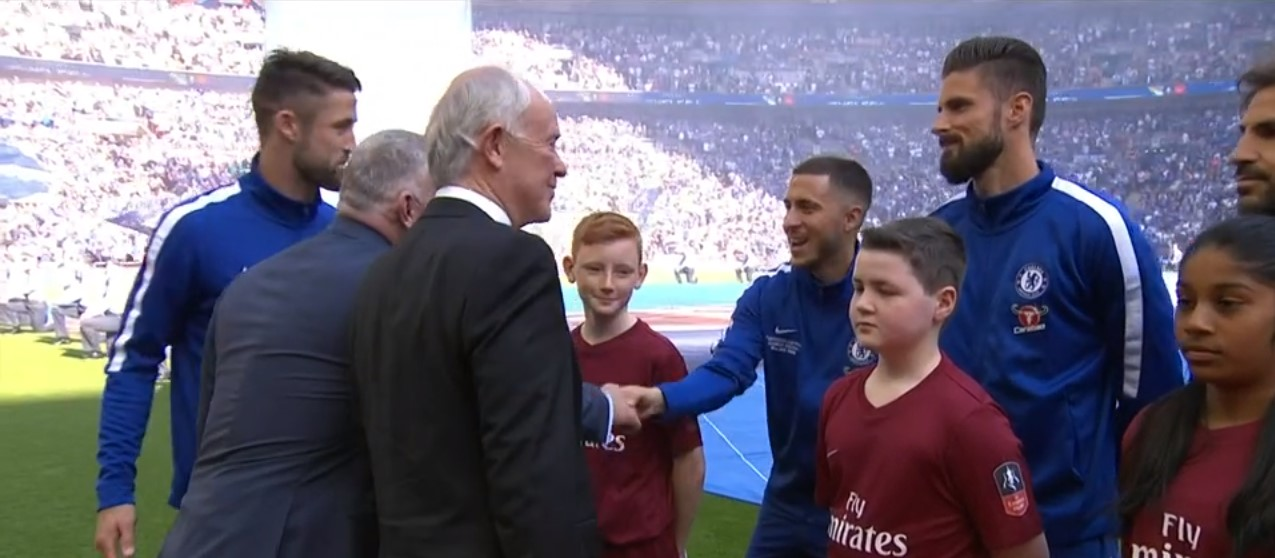 Hero - Callum Fobister was a mascot at the FA Cup Final