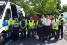 Preparation - PCSOs and other community safety agencies are getting ready for Street Weeks in Highwoods