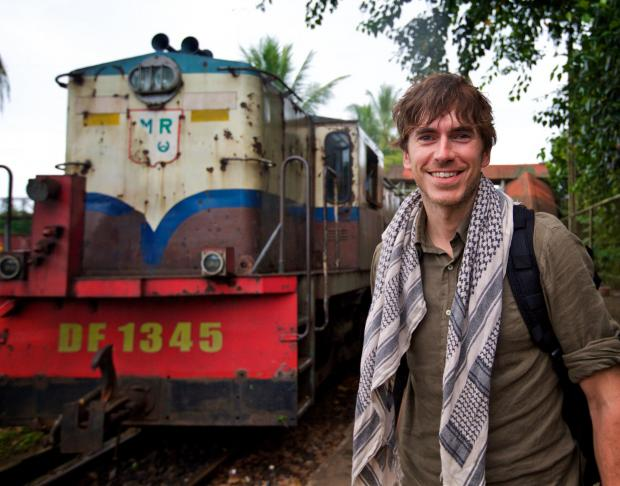 Gazette: Undated BBC Handout Photo from Simon Reeve in Burma. Pictured: Simon Reeve covering the Rohingya refugee crisis in a refugee camp near Coxâs Bazar, Bangladesh. See PA Feature SHOWBIZ TV Quickfire Reeve. Picture credit should read: PA Photo/BBC/Jonathan Y