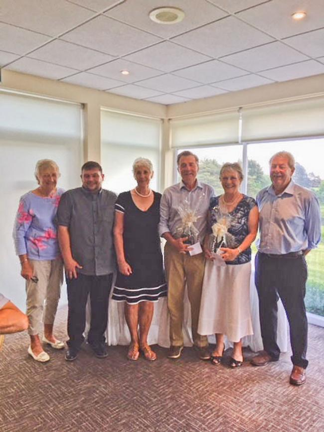 Leading the way - Stoke by Nayland GC held their President's Prize competition. Left to right, Lesley Garnett (club president), Gary Borthwick, Barbara Rowe, Barry Hitchcock, Lesley Hitchcock, Alan Line (men's captain)