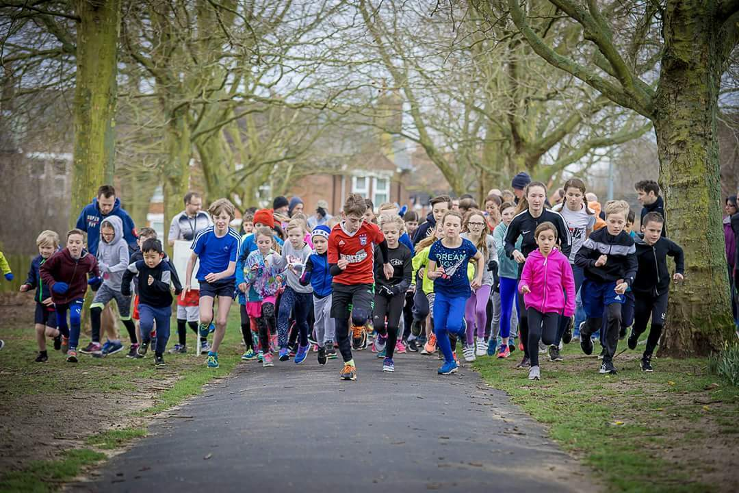 Fun - runners enjoy the Colchester junior parkrun