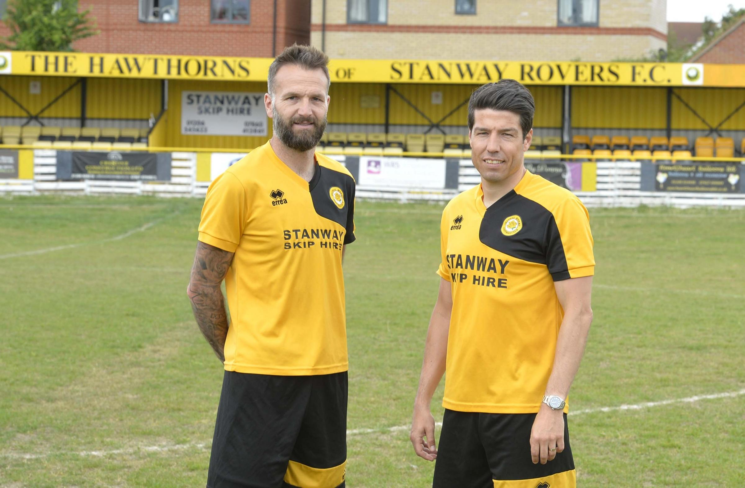 Unveiled - Kem Izzet (right) and Karl Duguid, after being appointed at Stanway in May 2017