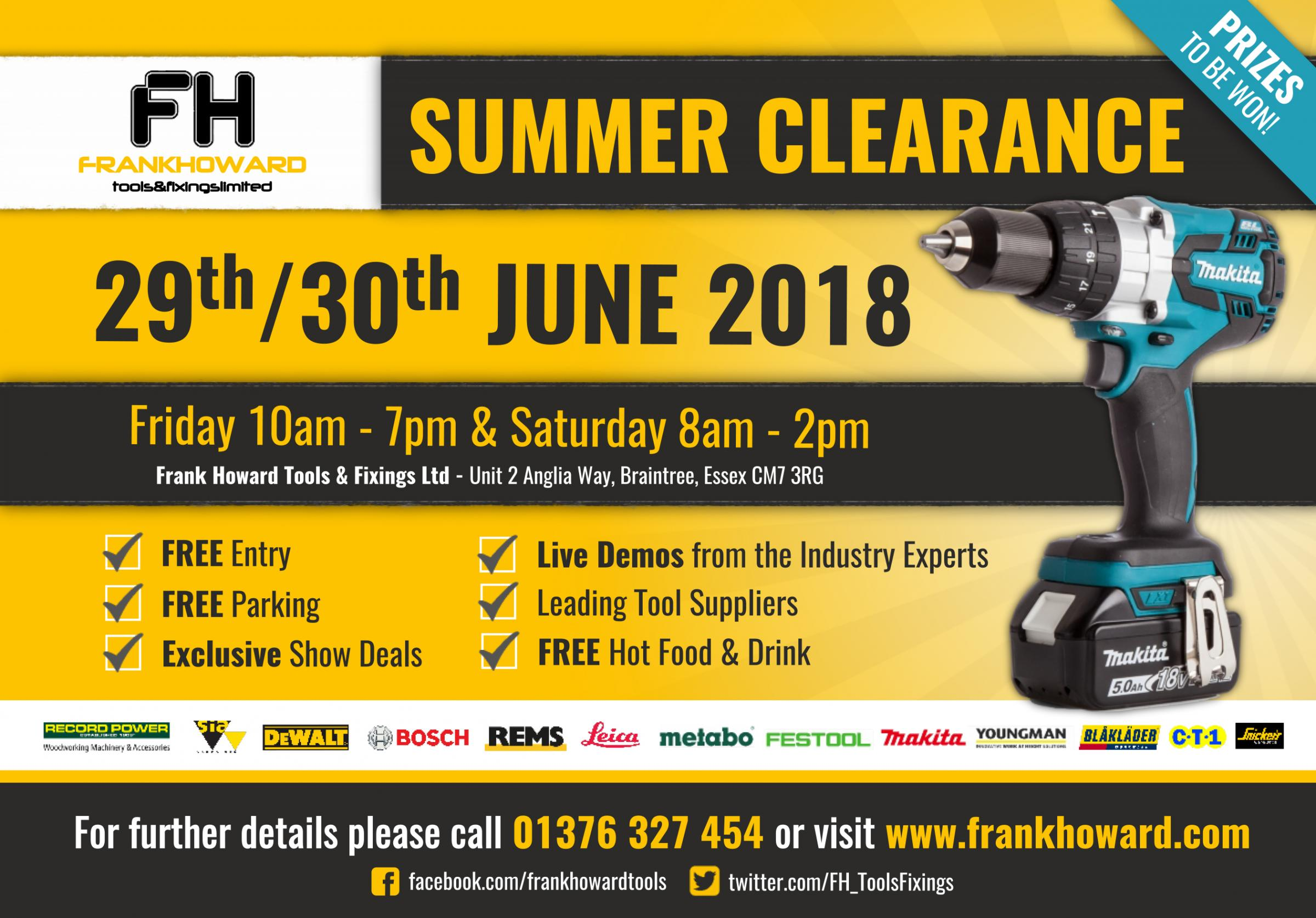 Frank Howard Tools Summer Clearance 2018