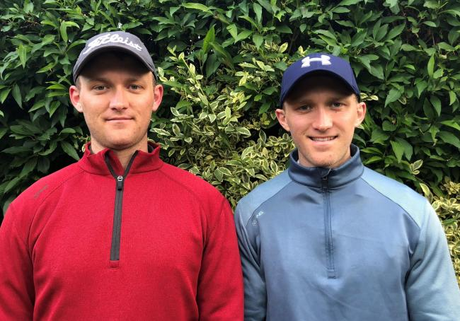 Double delight - Matt (left) and Thomas Durrell who won the Curtis Cup at Colchester Golf Club
