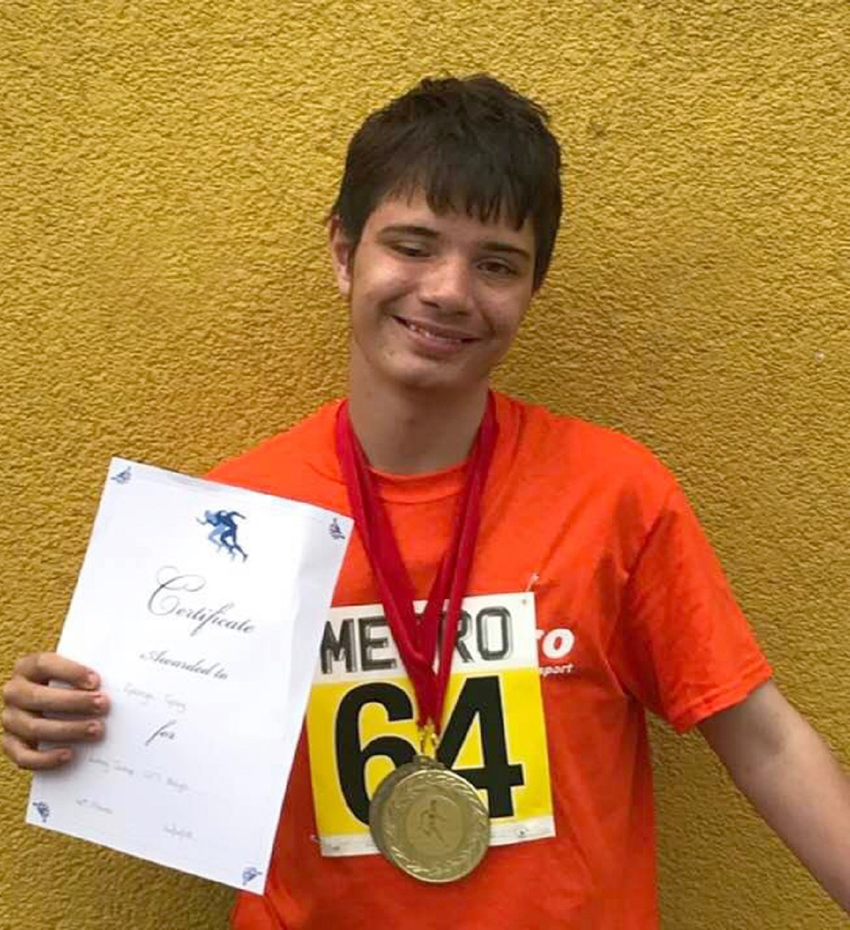 Double delight - George Gray won gold and silver medals at the Athletics Open