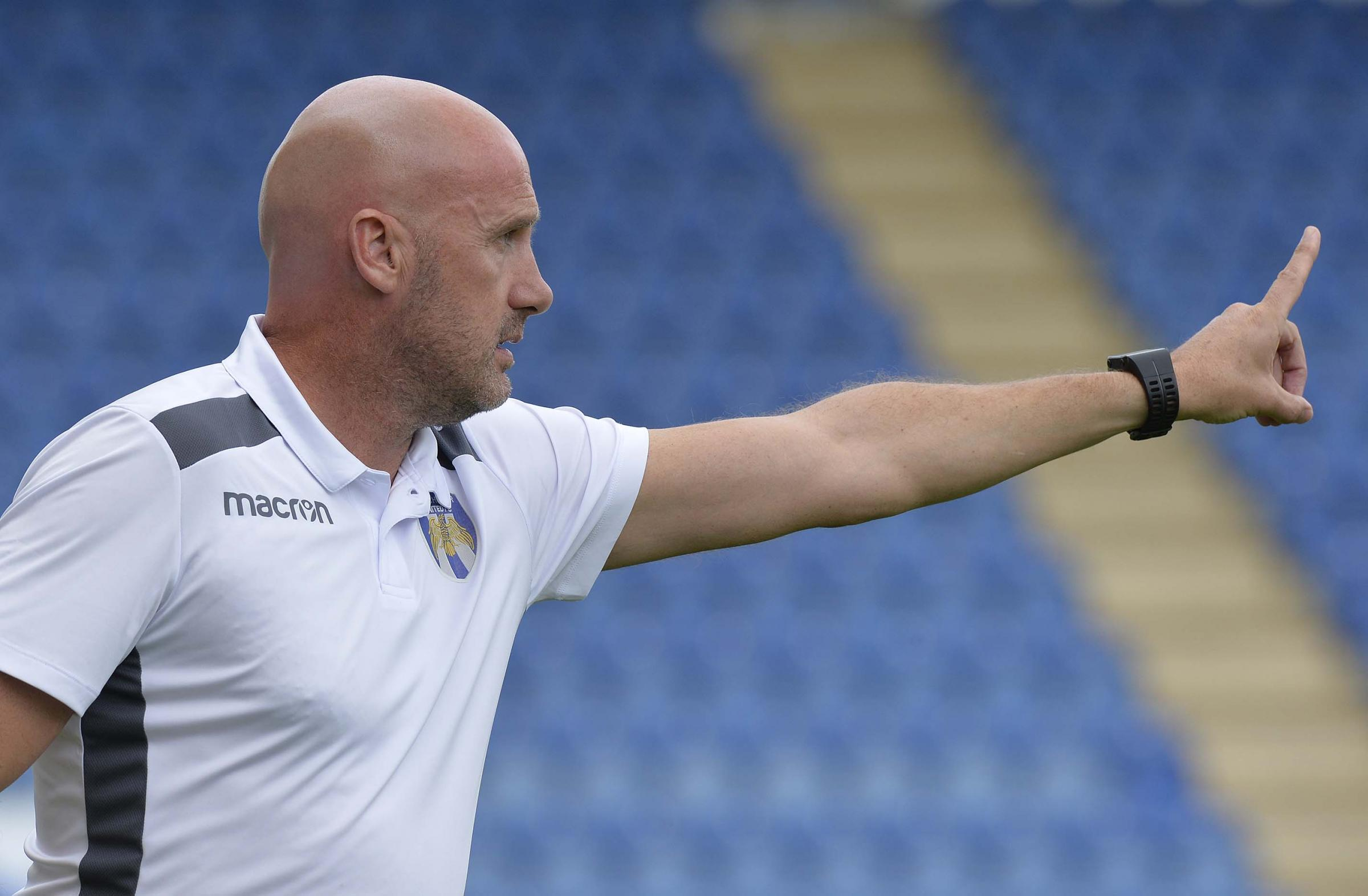 Preparations - Colchester United head coach John McGreal wants his side to have a competitive pre-season Picture: STEVE BRADING