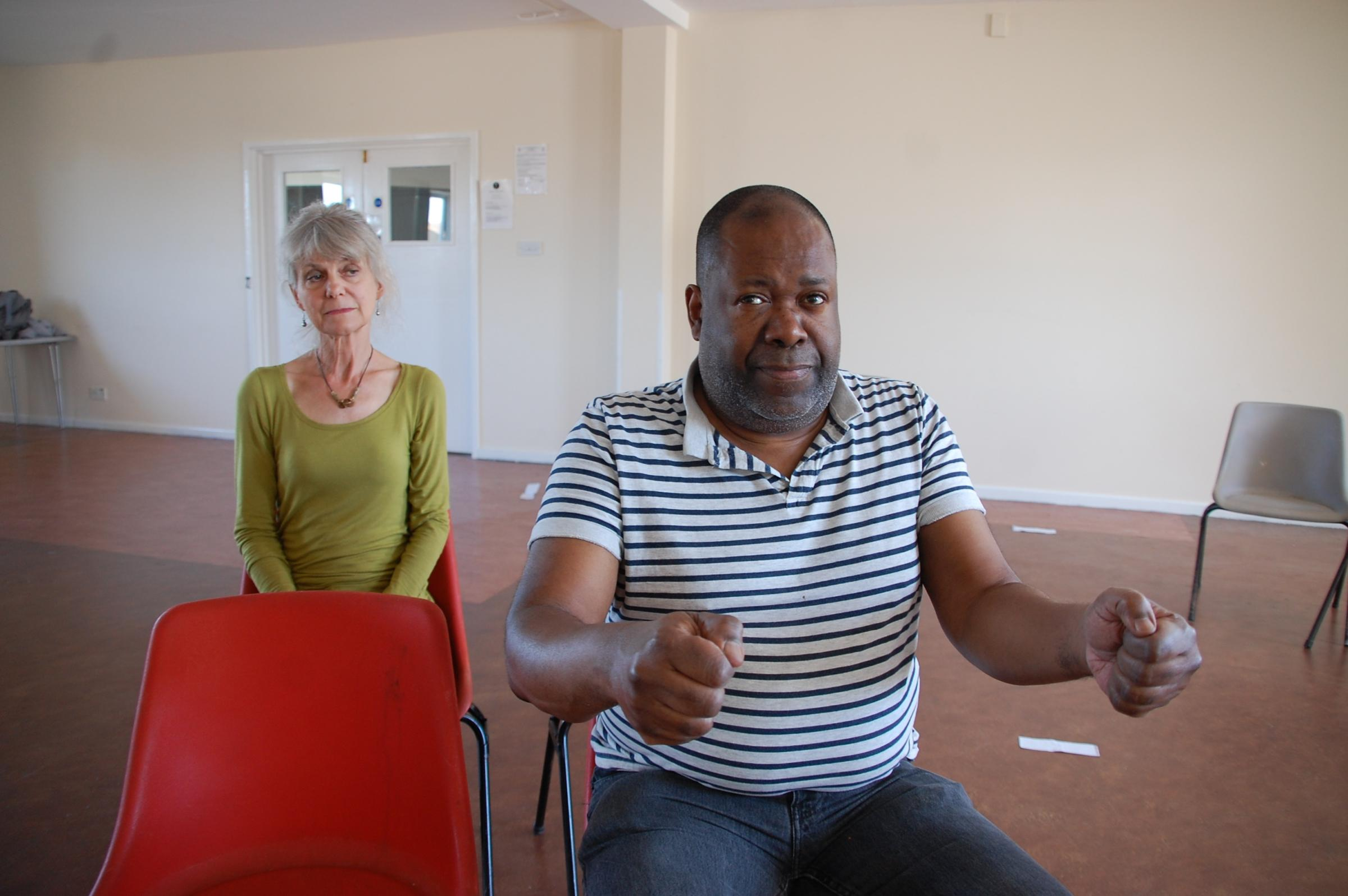 Geoff Aymer And Anah Ruddin In Rehearsals For Driving Miss Daisy