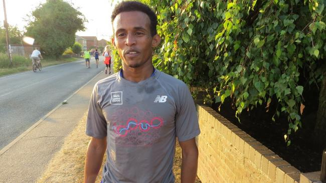 Victorious - Colchester Harriers' Ramadan Osman won the Great Bentley five-mile road race