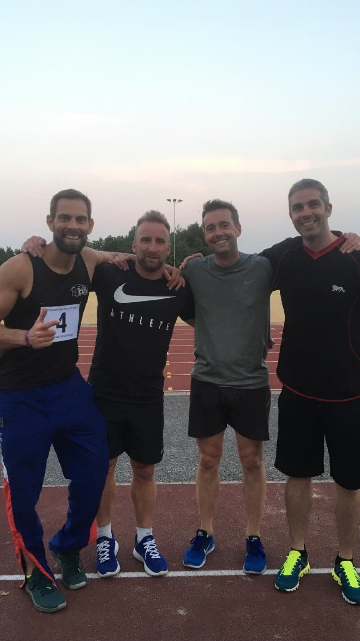 Fantastic four - the Colchester and Tendring Ipswich relay team. Left to right: Justin Hubbard, Aaron Bollu, Lee Bowker, Dan Gartlan