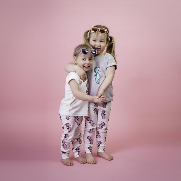 Gazette: Family - Emma's daughter Immy and Sarah's little girl Olivia model some of their designs