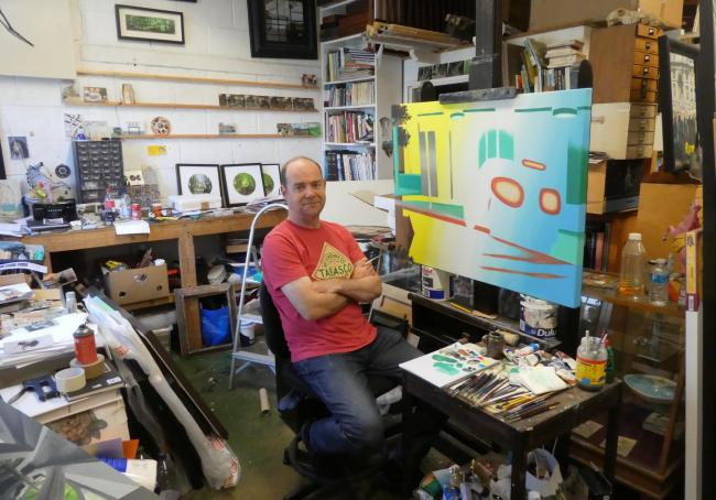 Realist - Lincoln Taber in his studio at his East Sussex home