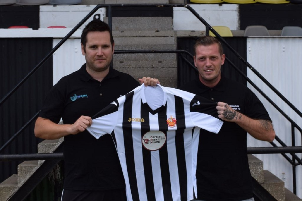 Harwich and Parkeston manager Kieron Shelley (right) and assistant Mike Wallace