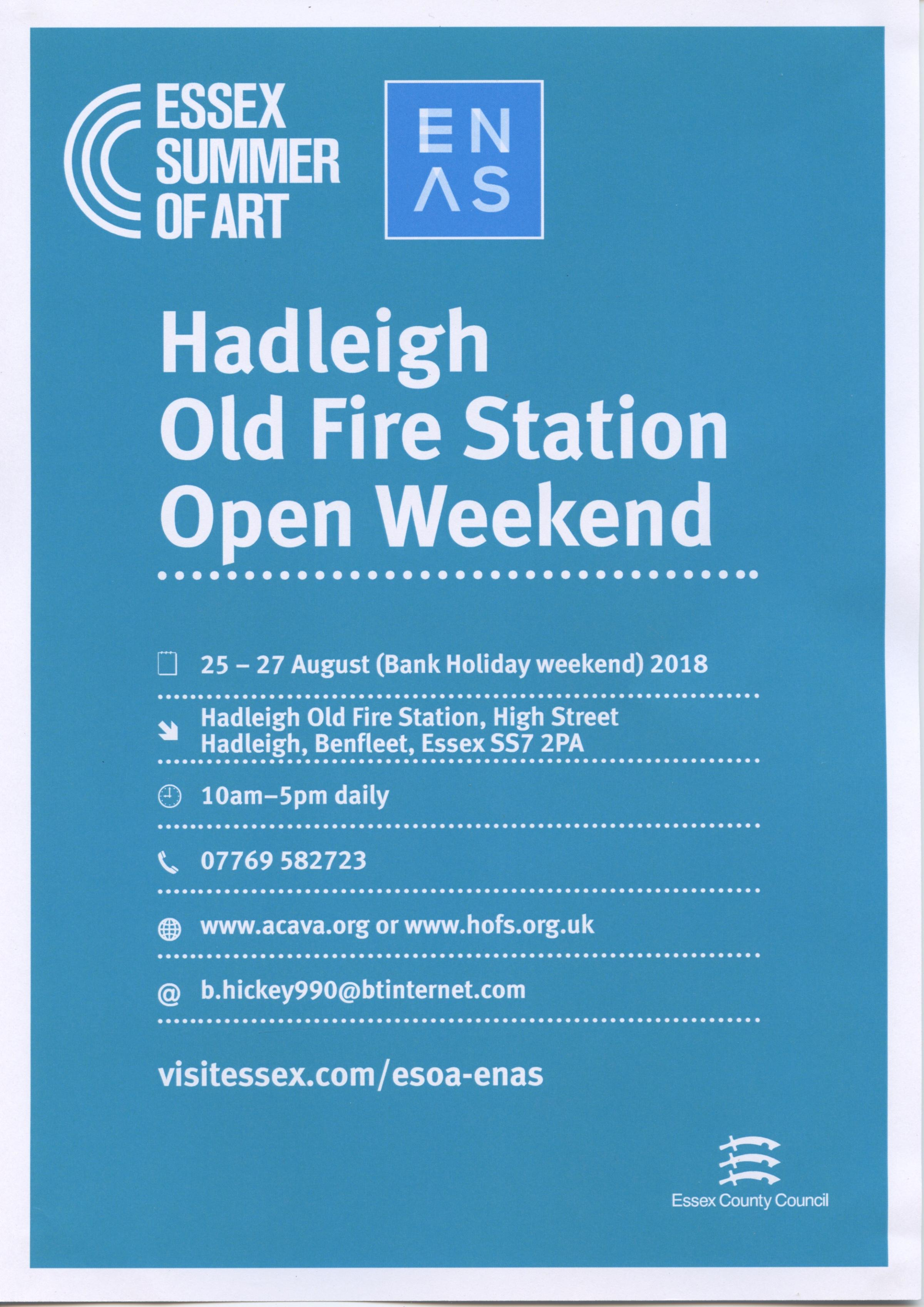 Hadleigh Old Fire Station Open Weekend