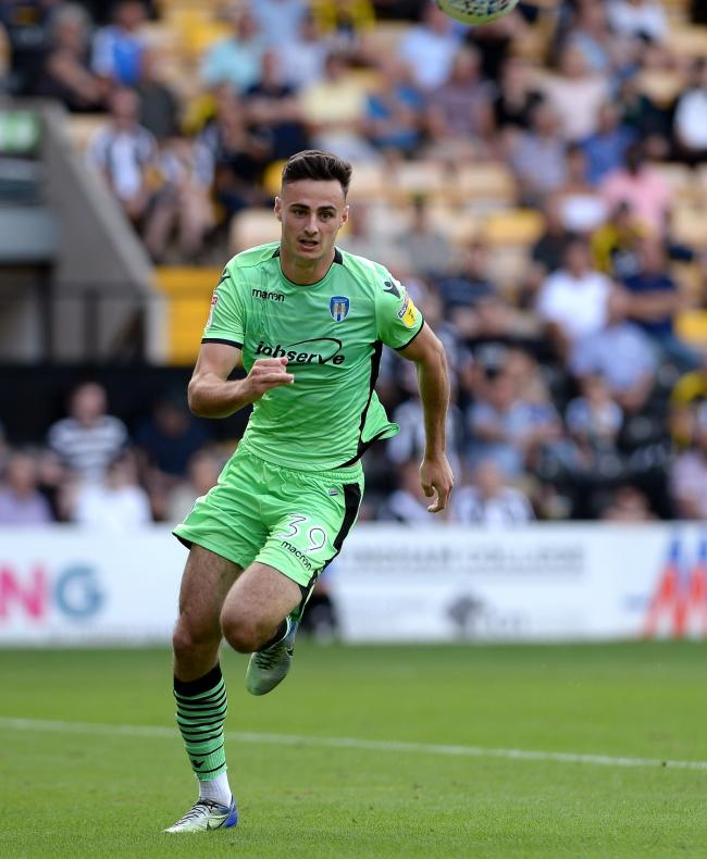 Good first impression - Aaron Collins on his Colchester United debut at Notts County Picture: PAGEPIX