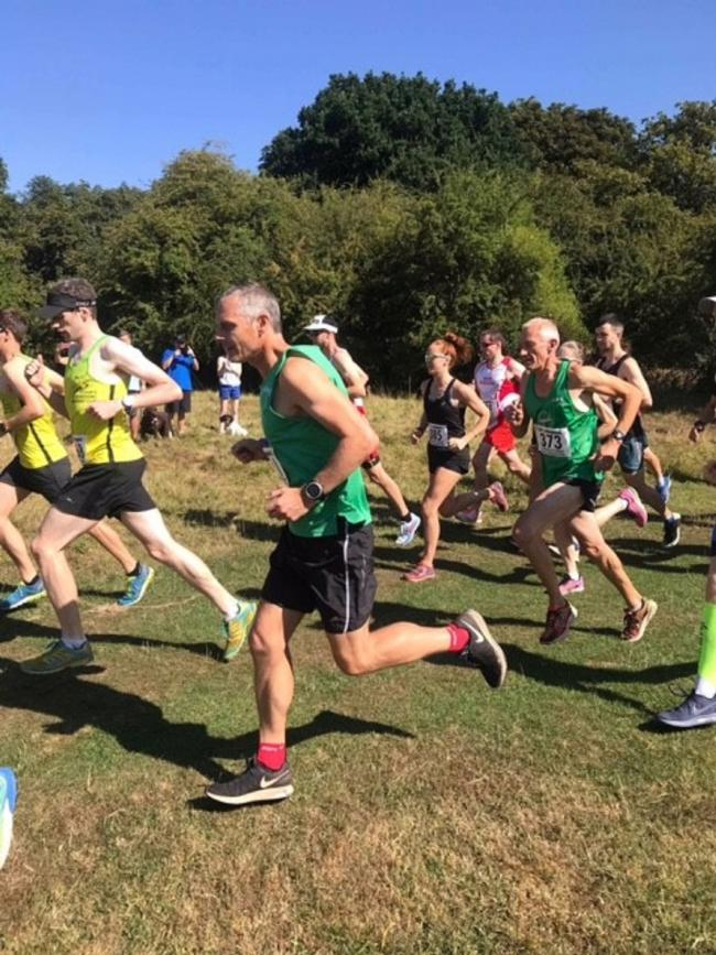 Powering on - Colchester Harriers runner Allen Smalls on his way to runners-up spot at the Hatfield Forest half marathon
