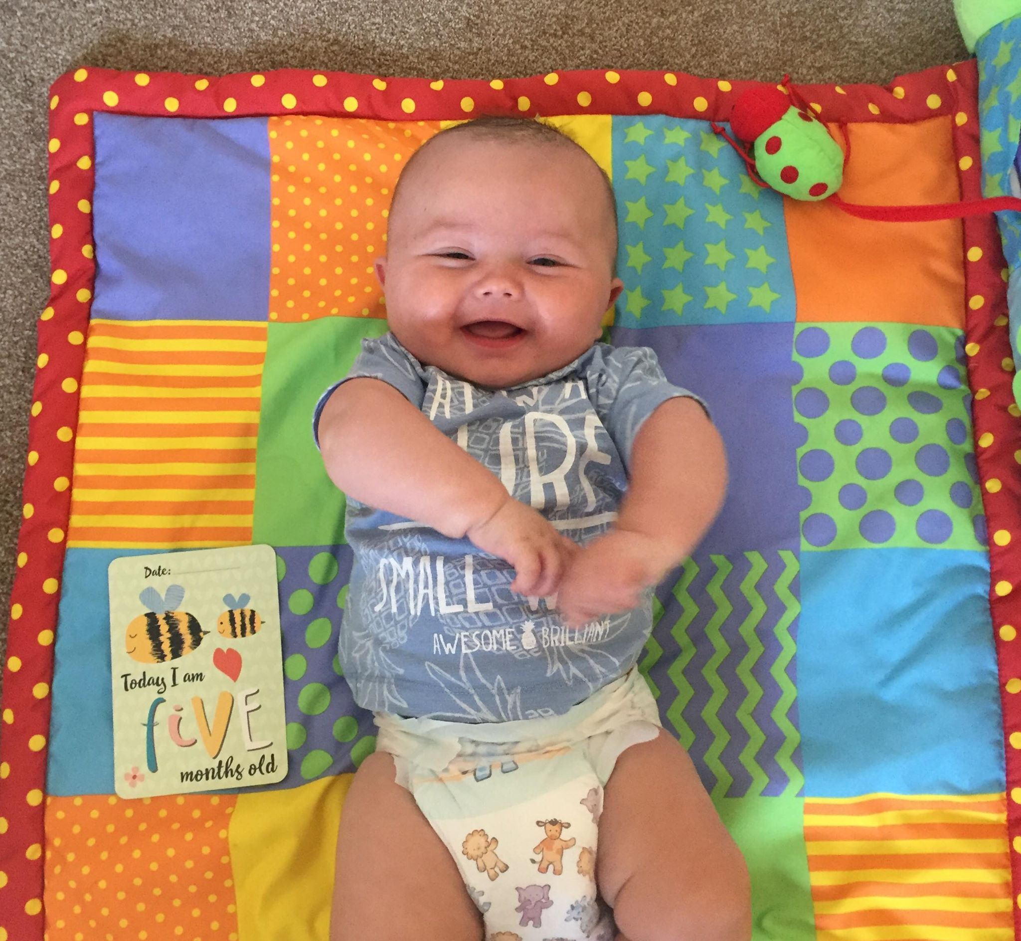 Smiley - baby Johnny who tragically died of Sudden Infant Death Syndrome