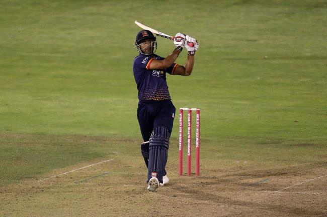 Hitting out - Ravi Bopara in action for essex Eagles against Glamorgan in the T20 Blast Picture: TGS PHOTO/GAVIN ELLIS