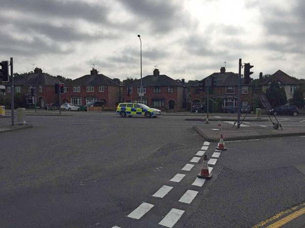 Man taken to hospital after accident at junction of