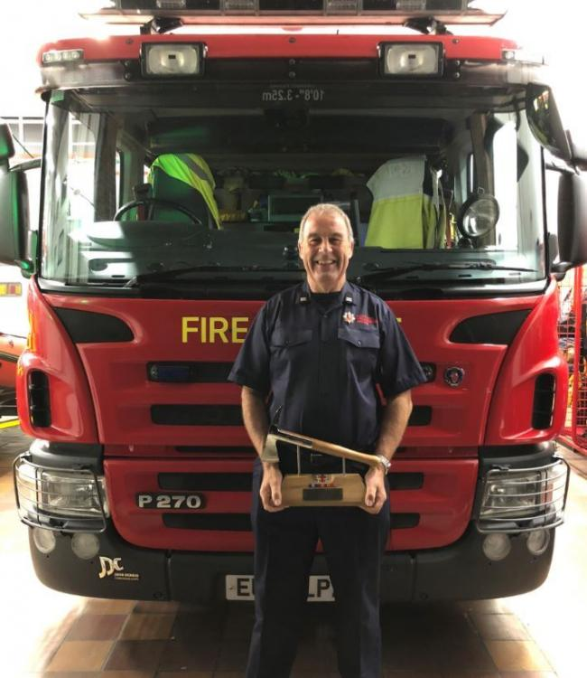 Firefighter Kenneth Dalby faced 30 years of being on call, day and