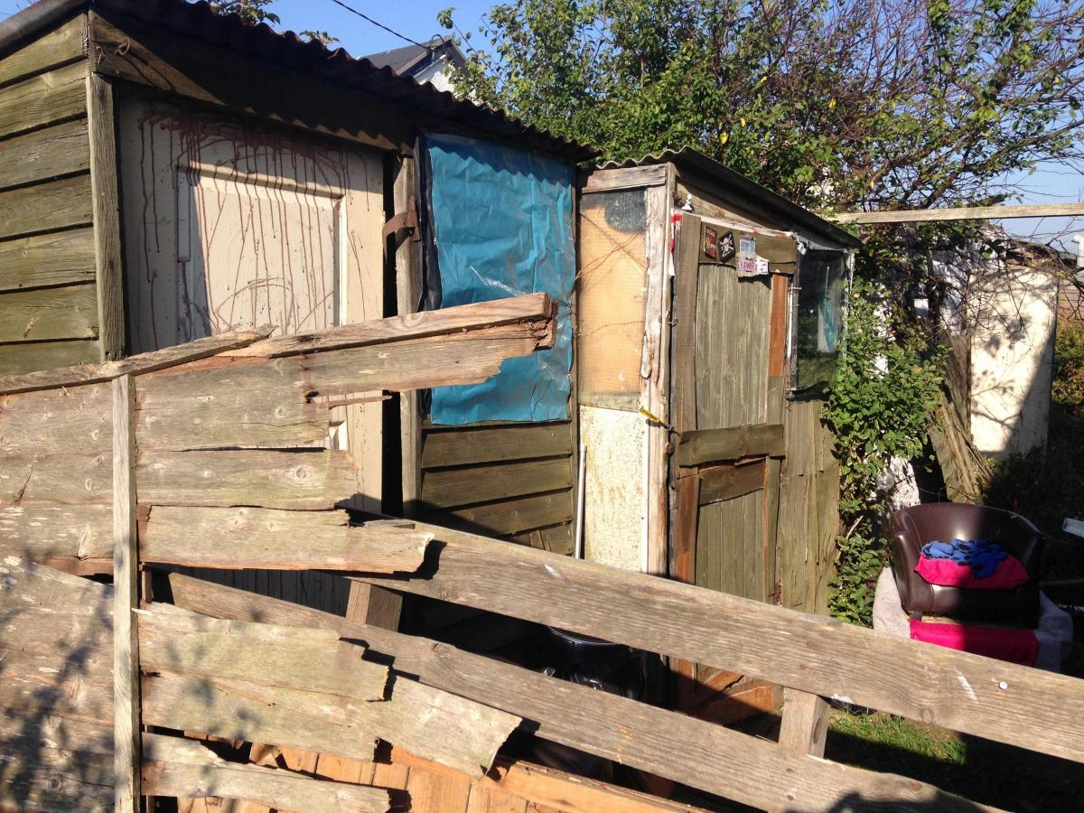 Man has been living in jaywick shed for more than a year