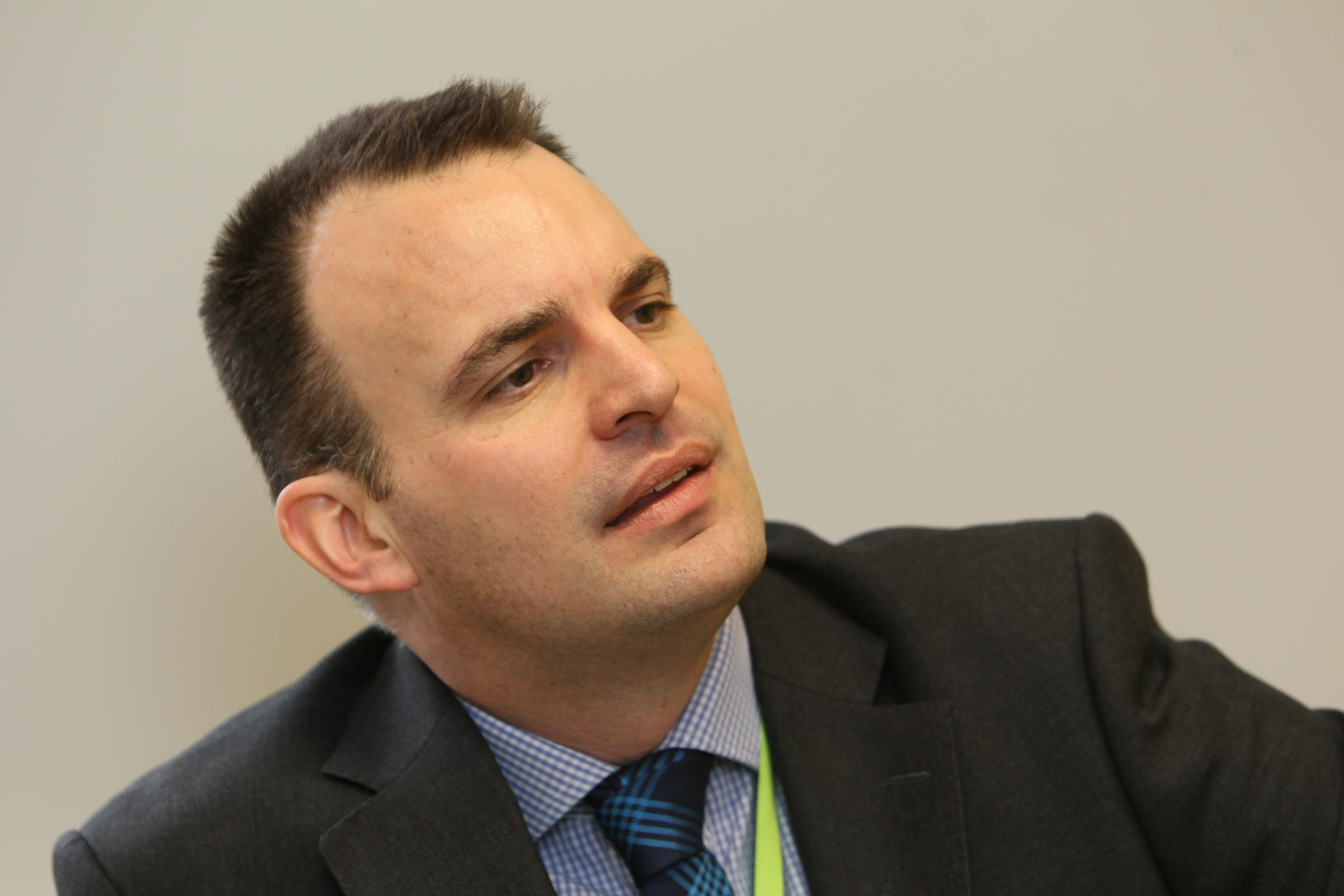 04/04/2013 new CEO of St Helena Hospice, Mark Jarman-Howe.