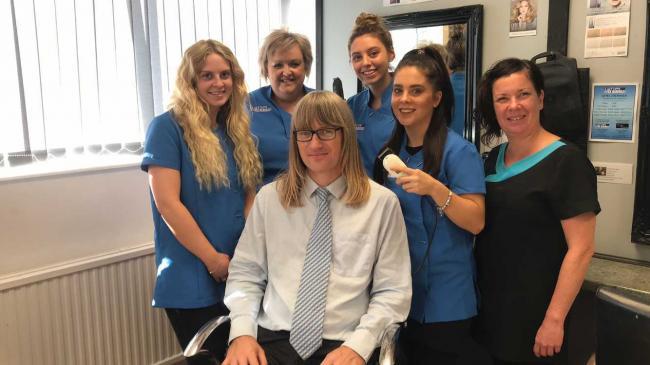 Gareth's crazy hair to get the chop at Catten College | Gazette