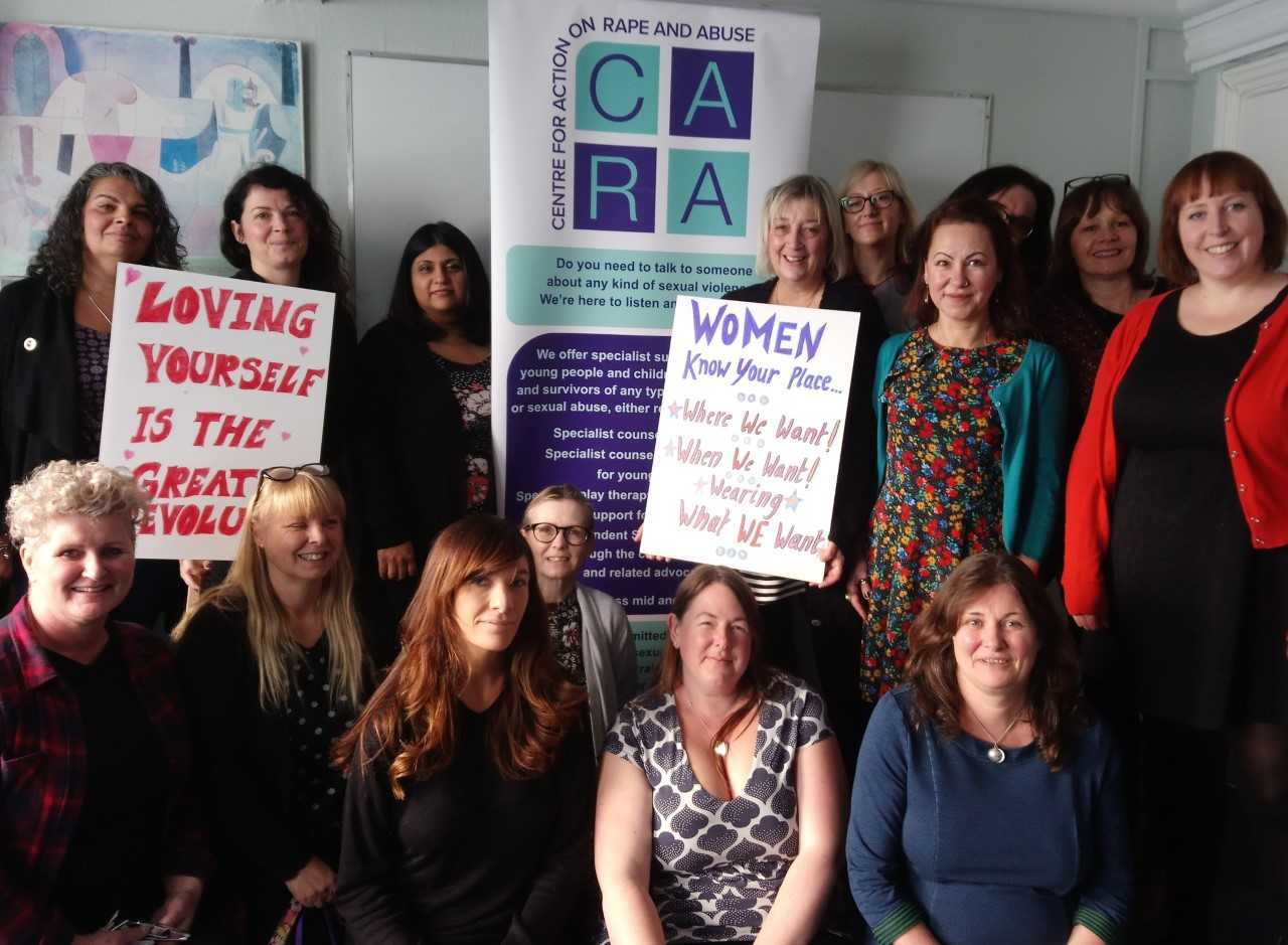 Strong - the women preparing for the Reclaim the Night march in Colchester