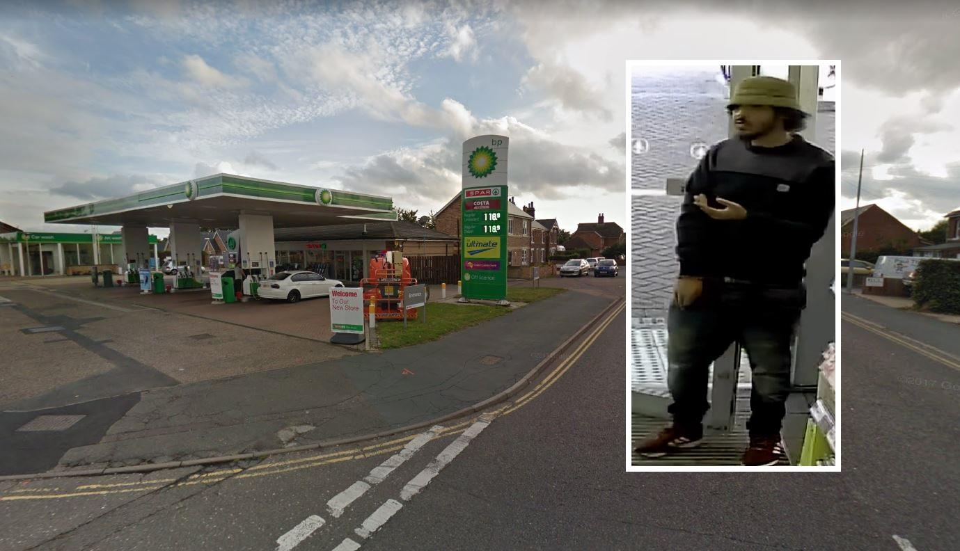 Scene - the BP garage was punched in London Road, Stanway