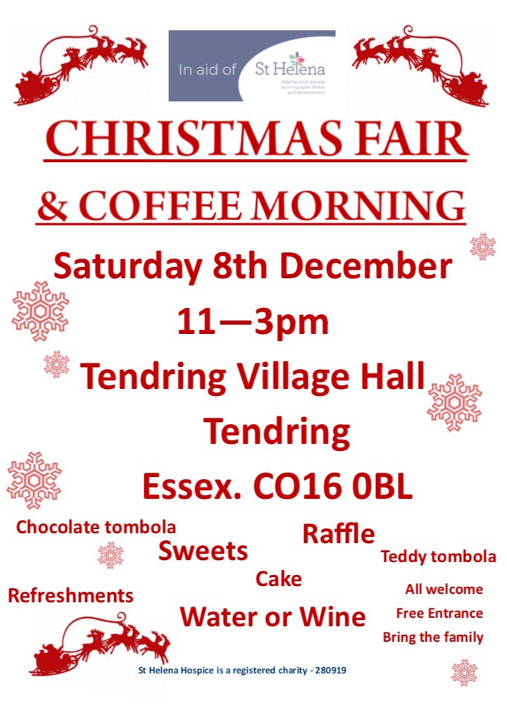 Christmas Fair & Coffee Morning in aid of St Helena Hospice