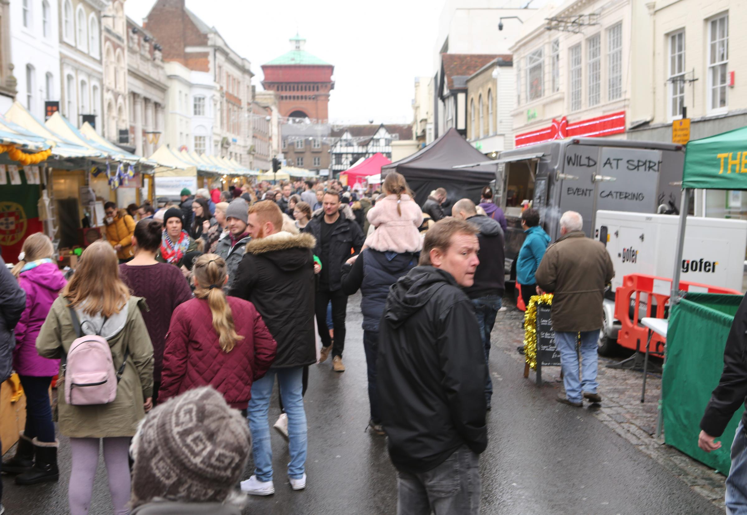 Festive - Colchester High Street Christmas Food Market taking place this Sunday.