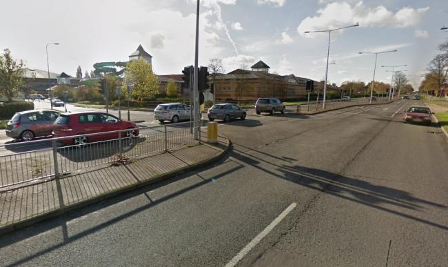 Crash causing delays on busy road
