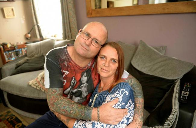 Emma and Lee Edey at home in Colchester, unhappy with their lack of progress through the IVF treatment route..