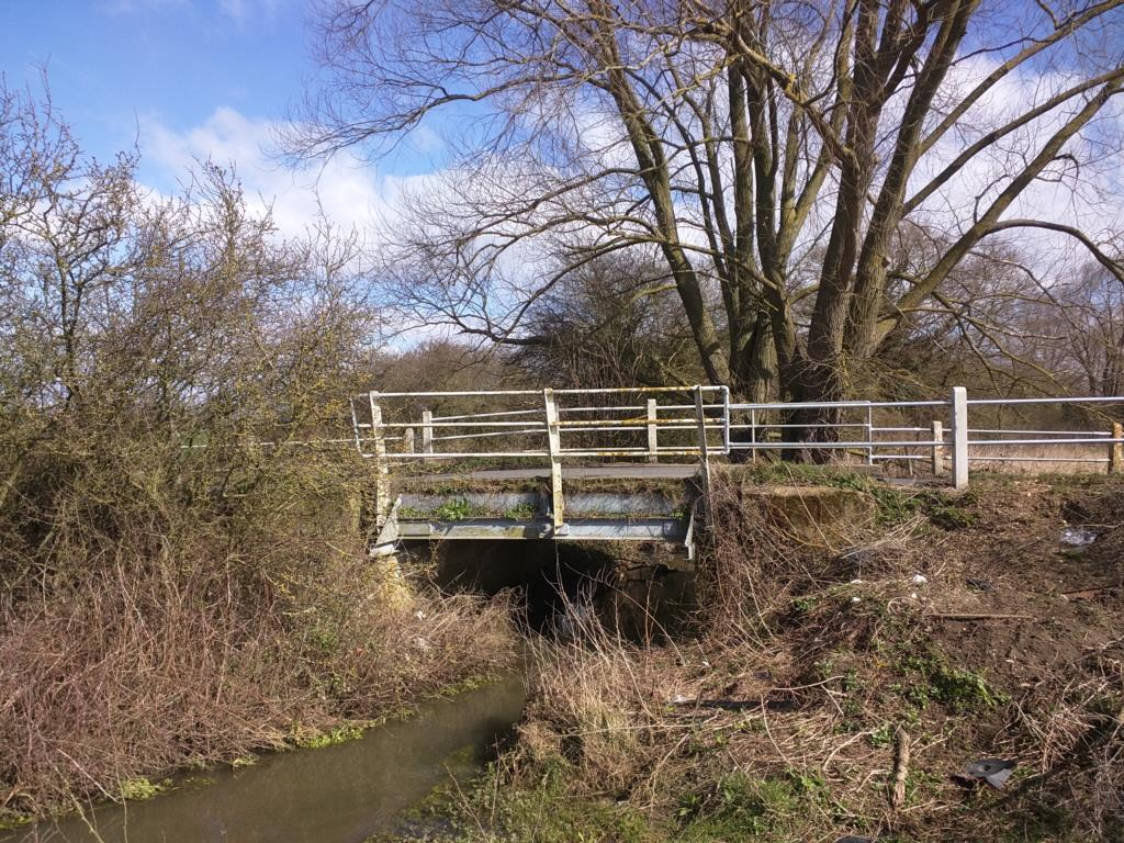 Scene - crucial cables were cut during work to replace Marks Tey Bridge  PICTURE: Essex County Council