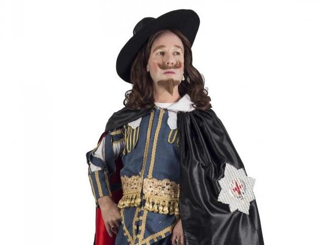 Dressed up - Daniel Williams as King Charles 1 (photo by Adam Annowi)