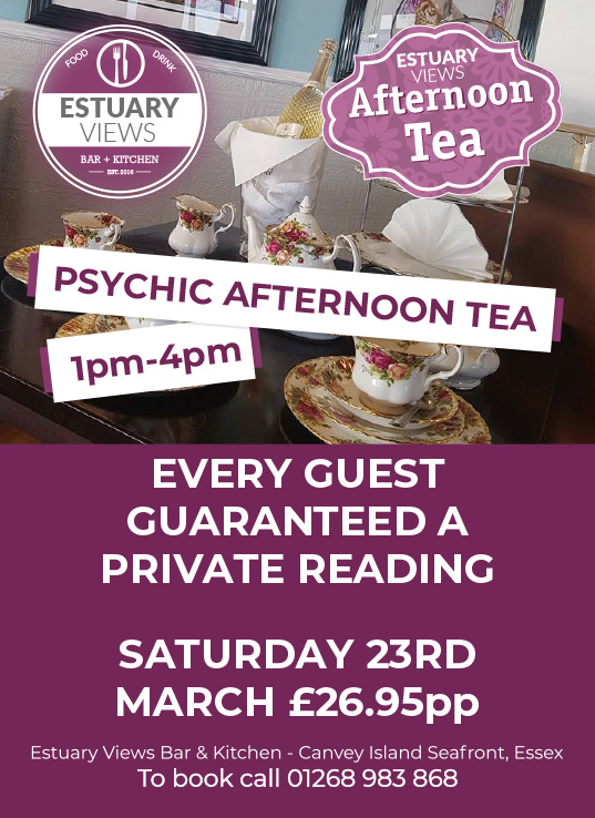 Psychic Afternoon Tea with a guaranteed personal reading