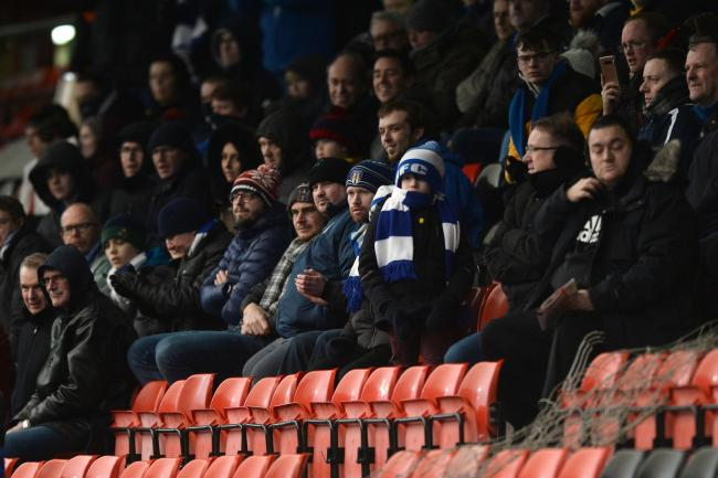 Great support - Colchester United fans at Crewe Alexandra on Saturday Picture: RICHARD BLAXALL