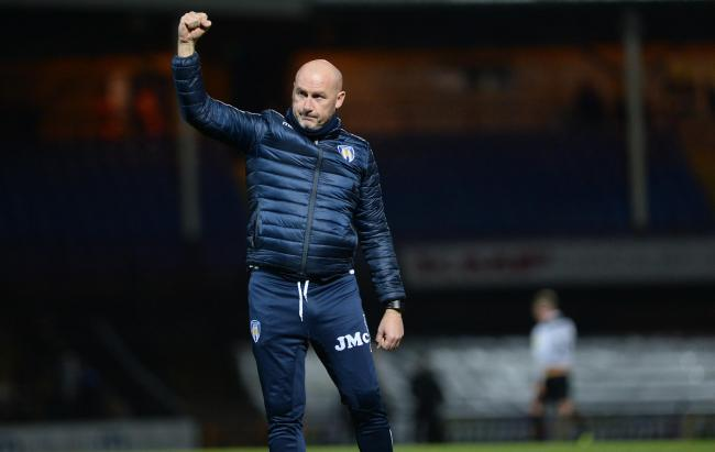 Rallying cry - Colchester United head coach John McGreal wants supporters to continue their fine support against Grimsby Town tomorrow Picture: PAGEPIX