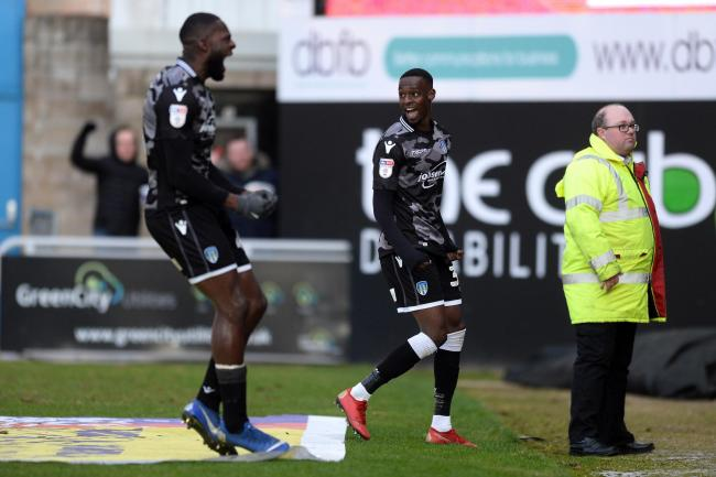 Abo Eisa of Colchester United celebrates scoring his sides second goal to make the scoreline 0-2 - Northampton Town vs. Colchester United - Sky Bet League Two - Sixfields, Northampton - 01/02/2019 - Photo by: Richard Blaxall.