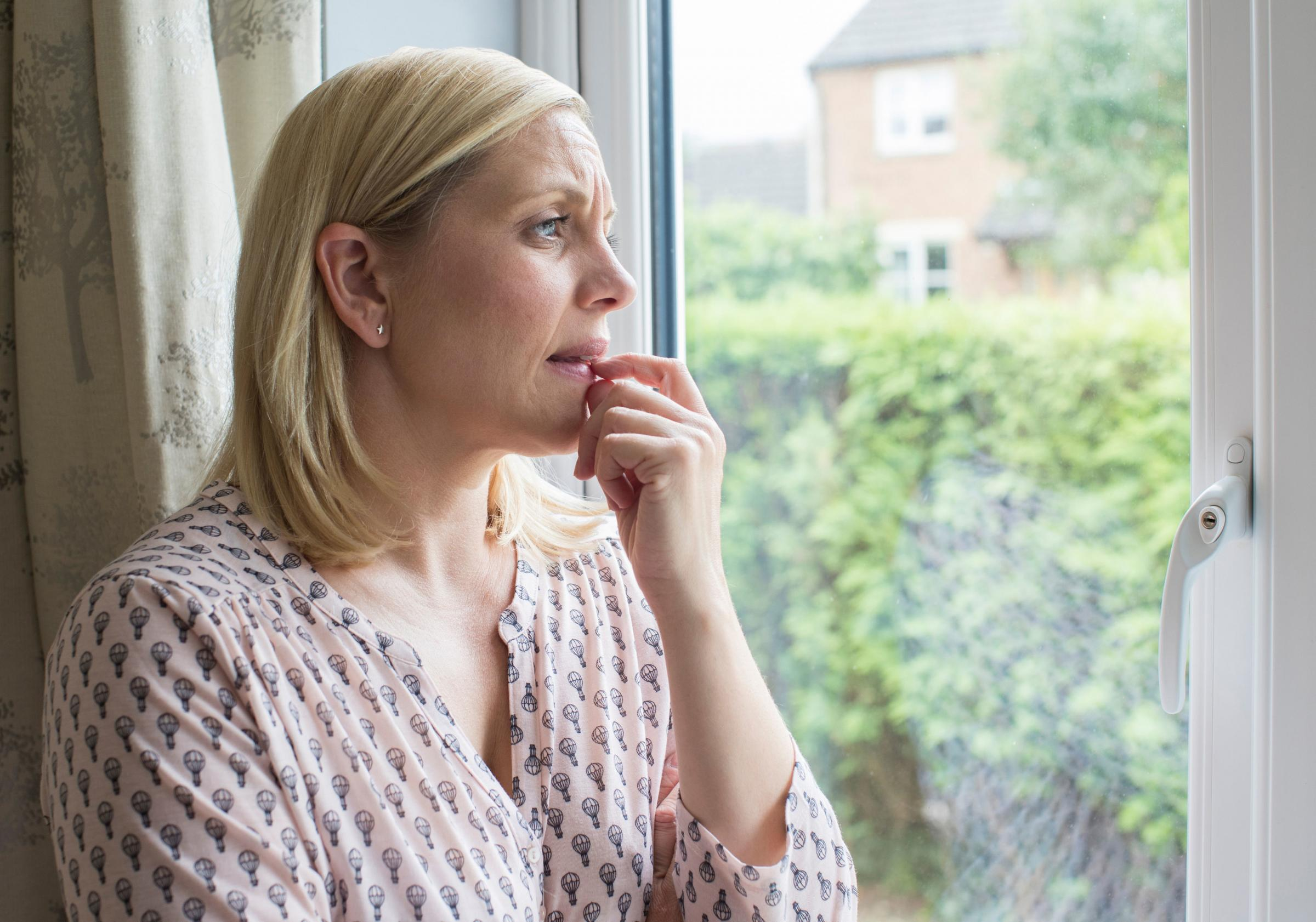 A generic photo of a woman suffering from agoraphobia. Picture: Thinkstock/PA