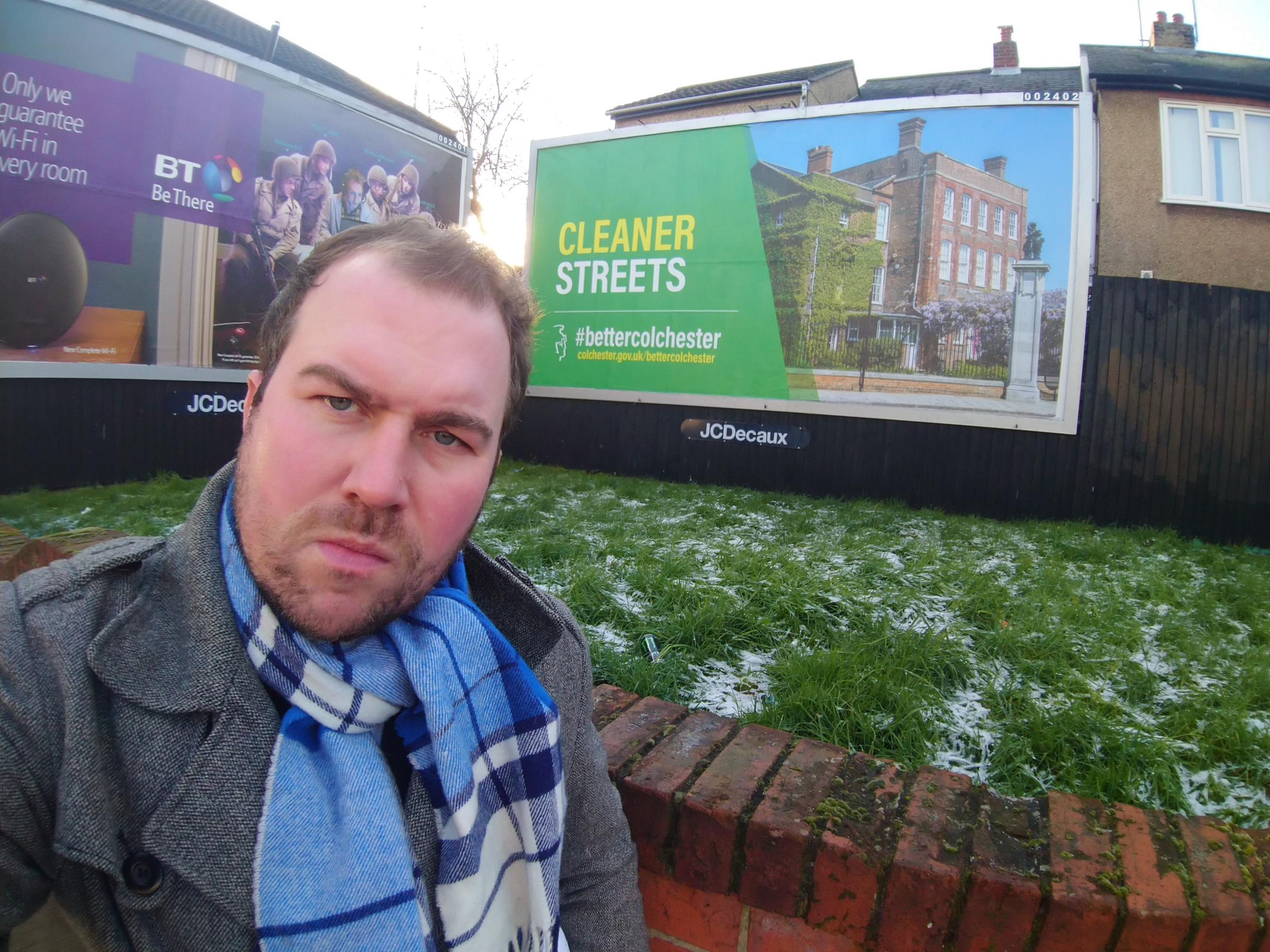 councillor Darius Laws has criticised the messages on some of the billboards
