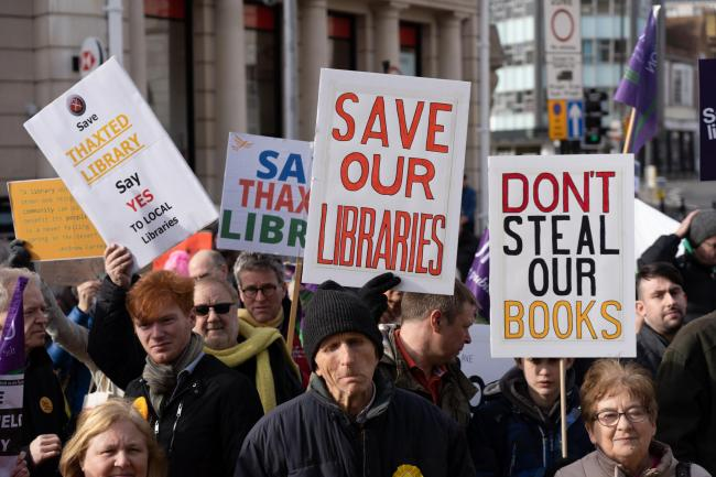 Coggeshall library protestors