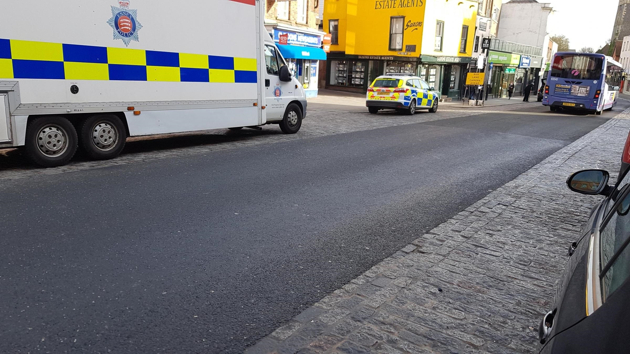 Patrols - police in Colchester High Street near George Street and Ryegate Road