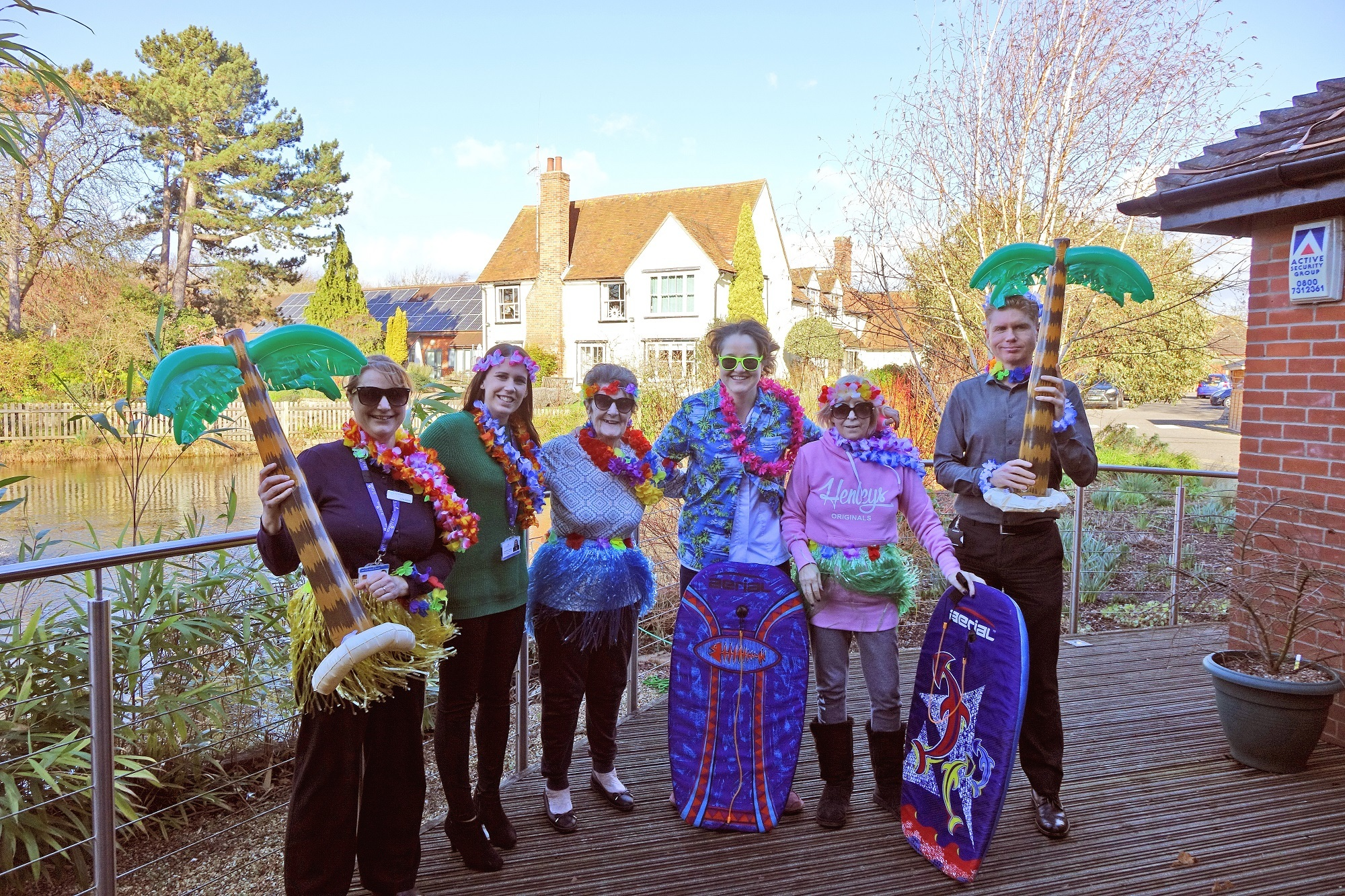 Tropical - St Helena Hospice patients and staff launch this year's Midnight Walk
