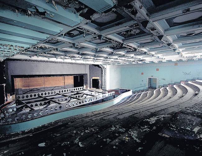 Dilapidated - Inside the derelict Odeon building in Crouch Street.