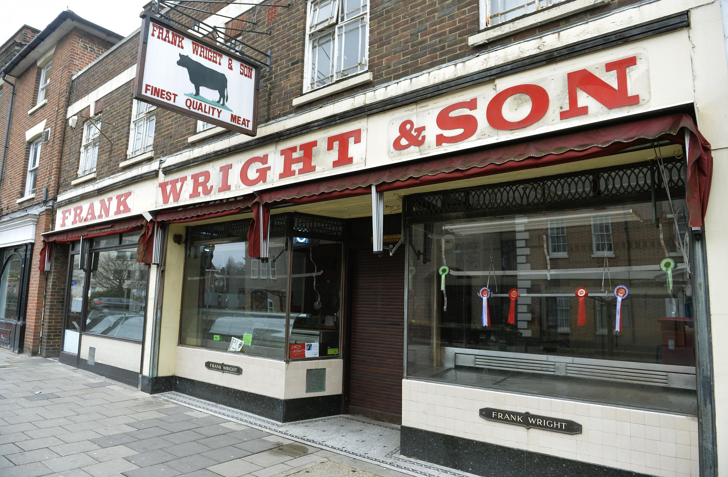 Ex Frank Wright butchers shop in Crouch Street, Colchester