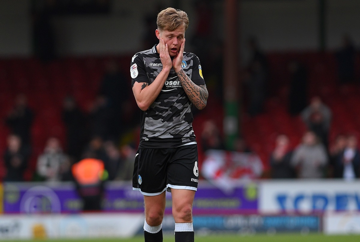 Frustration - Colchester United defender Frankie Kent cannot hide his disappointment after the comprehensive defeat at Swindon Town Picture: PAGEPIX