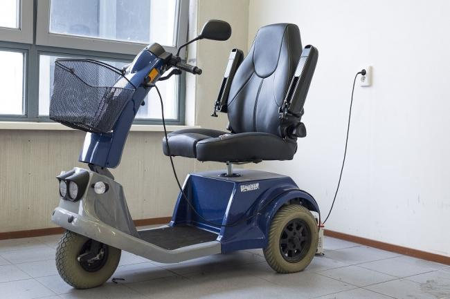 Stock image of a mobility scooter