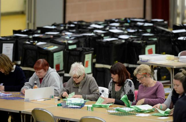 Count - people will cast their ballots in just over a month