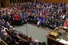 Defeat - Prime Minisiter Theresa May speaking in the Commons on Tuesday. PA picture.